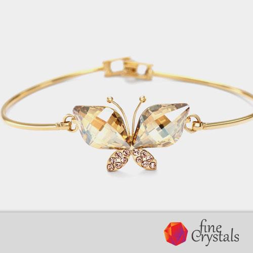 гривна пеперуда сваровски кристал