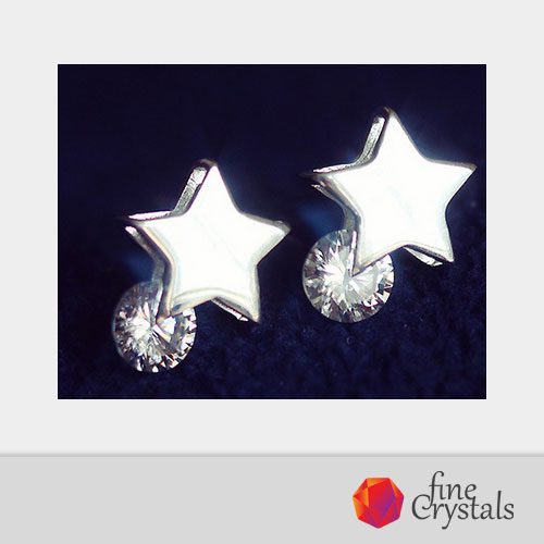 Обеци звезди цирконии