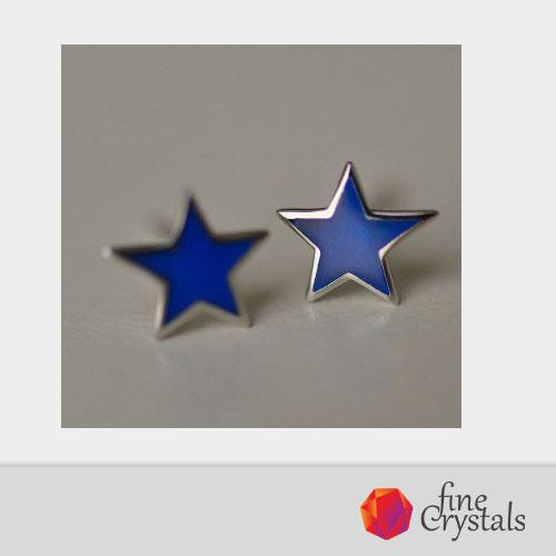 обеци сини звезди